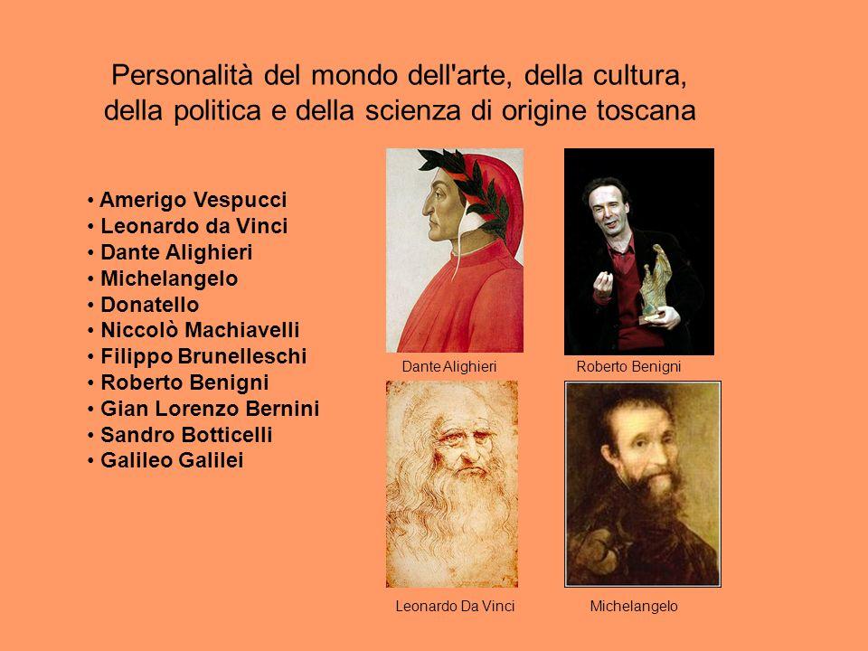 Personalità del mondo dell arte, della cultura, della politica e della scienza di origine toscana