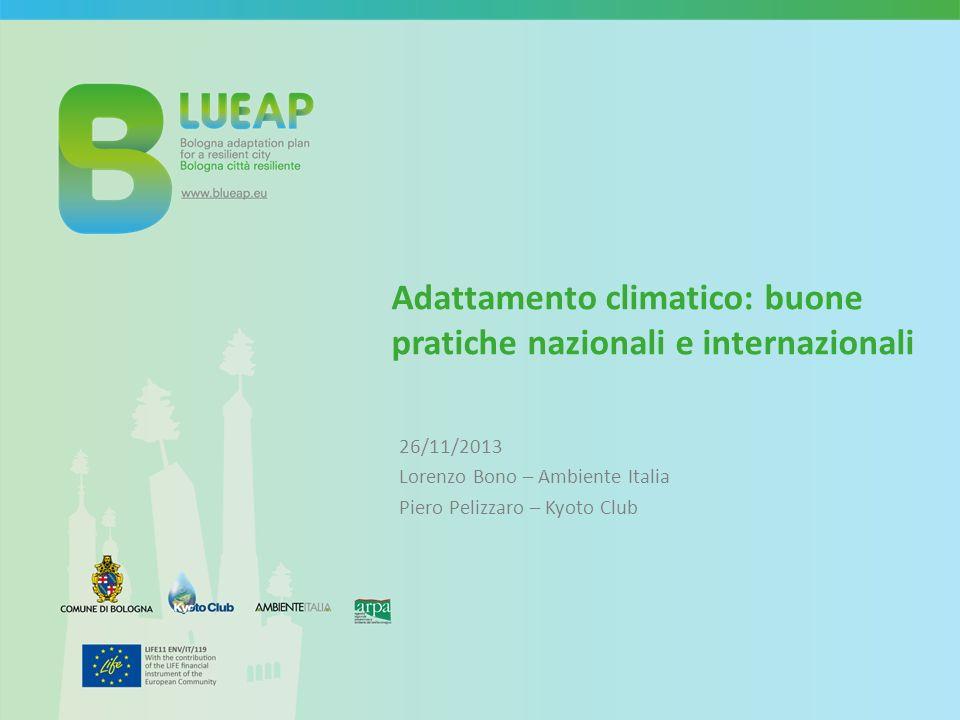 Adattamento climatico: buone pratiche nazionali e internazionali