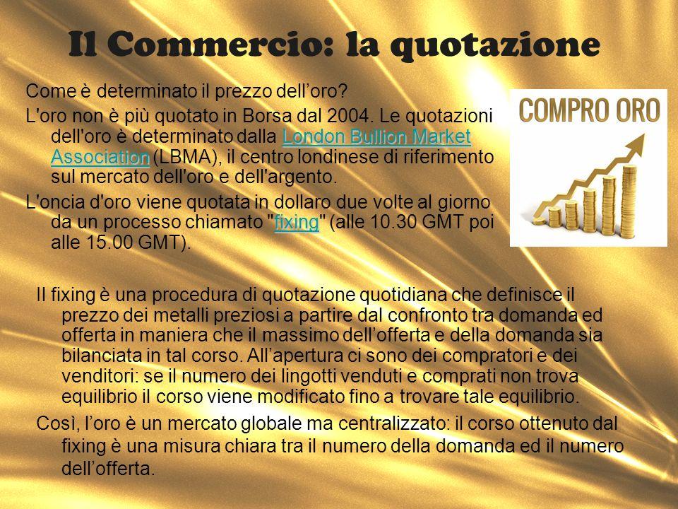 Il Commercio: la quotazione
