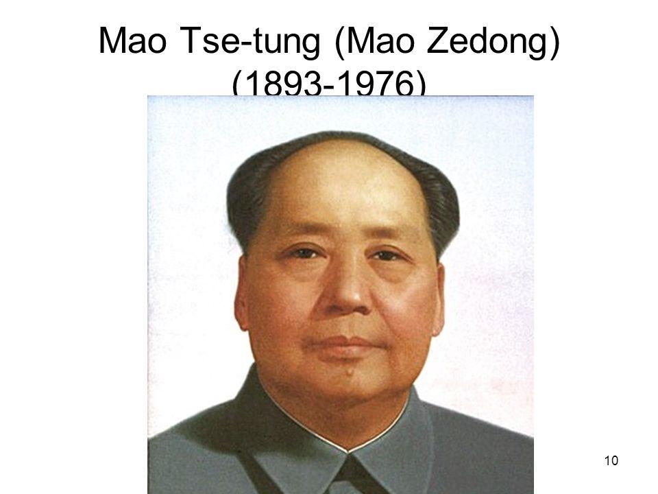 Mao Tse-tung (Mao Zedong) (1893-1976)