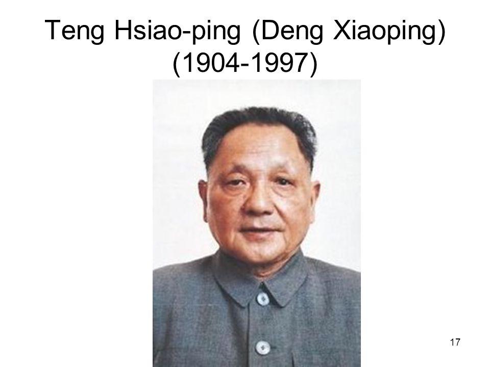 Teng Hsiao-ping (Deng Xiaoping) (1904-1997)