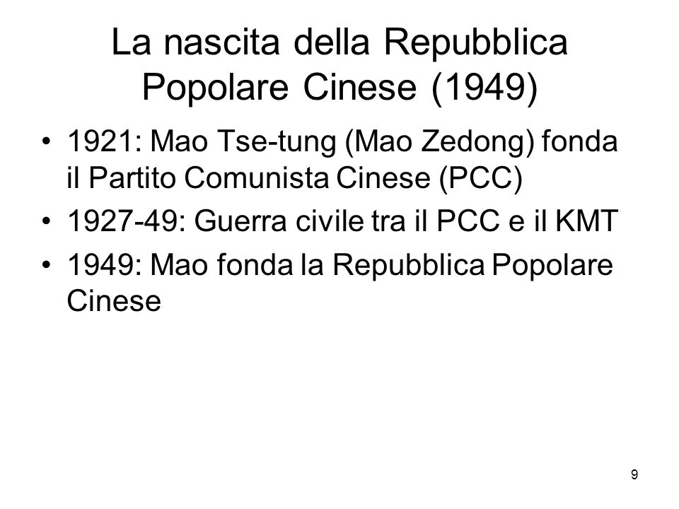 La nascita della Repubblica Popolare Cinese (1949)