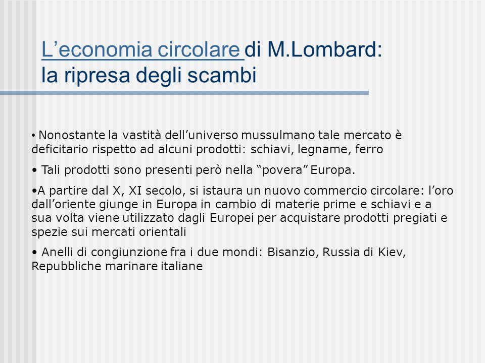 L'economia circolare di M.Lombard: la ripresa degli scambi