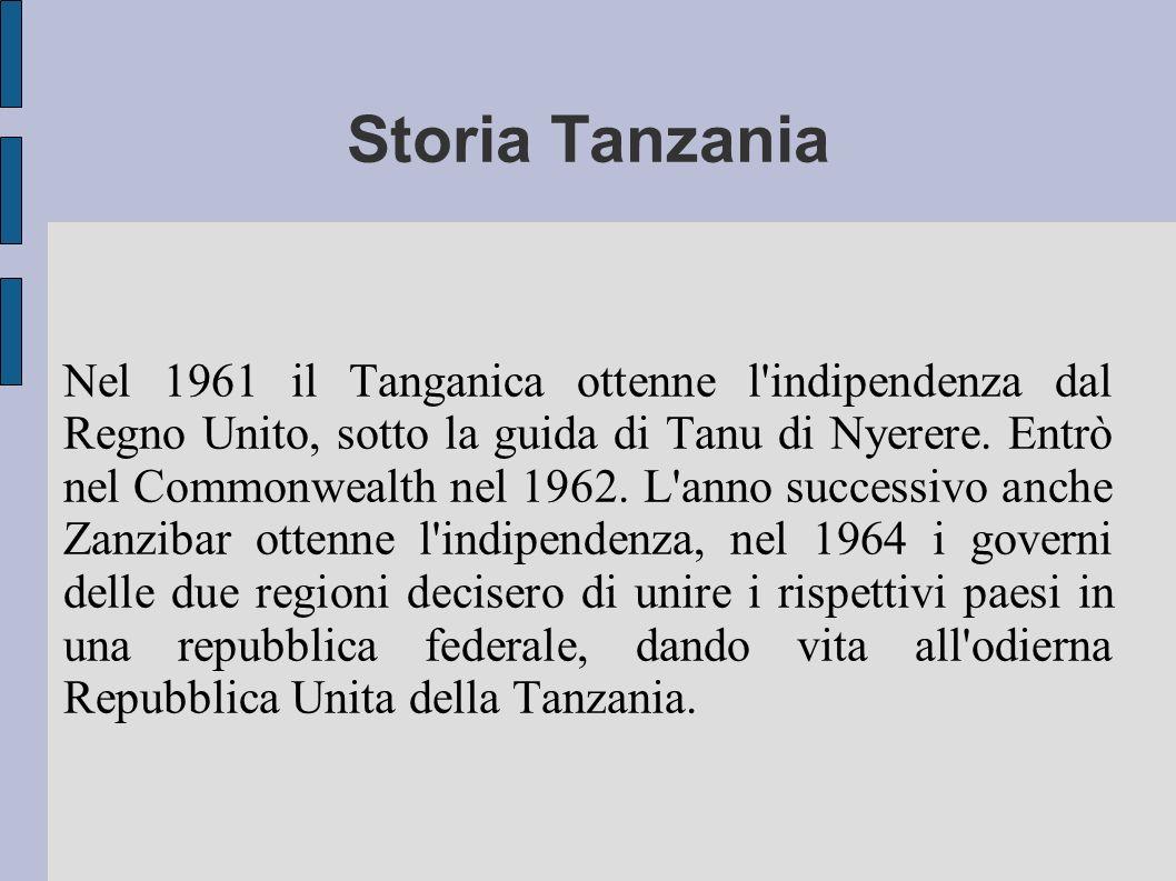 Storia Tanzania