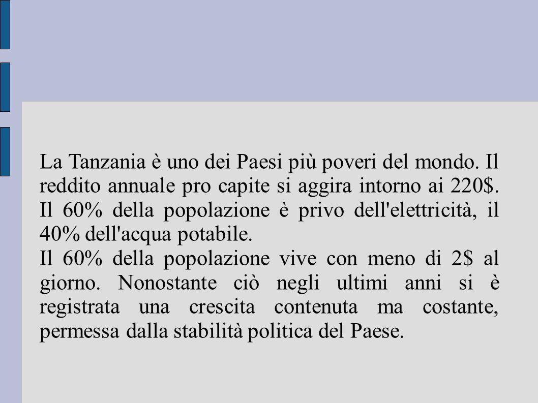 La Tanzania è uno dei Paesi più poveri del mondo