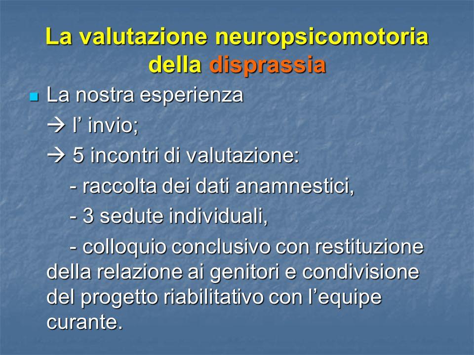 La valutazione neuropsicomotoria della disprassia