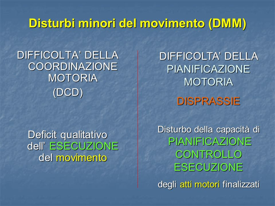 Disturbi minori del movimento (DMM)