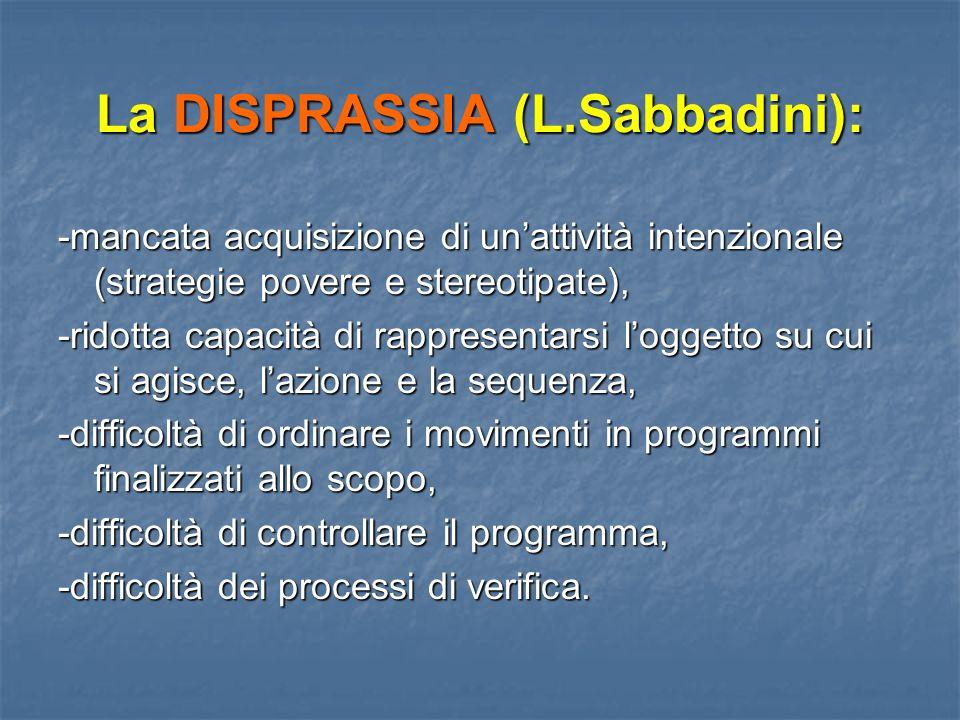 La DISPRASSIA (L.Sabbadini):