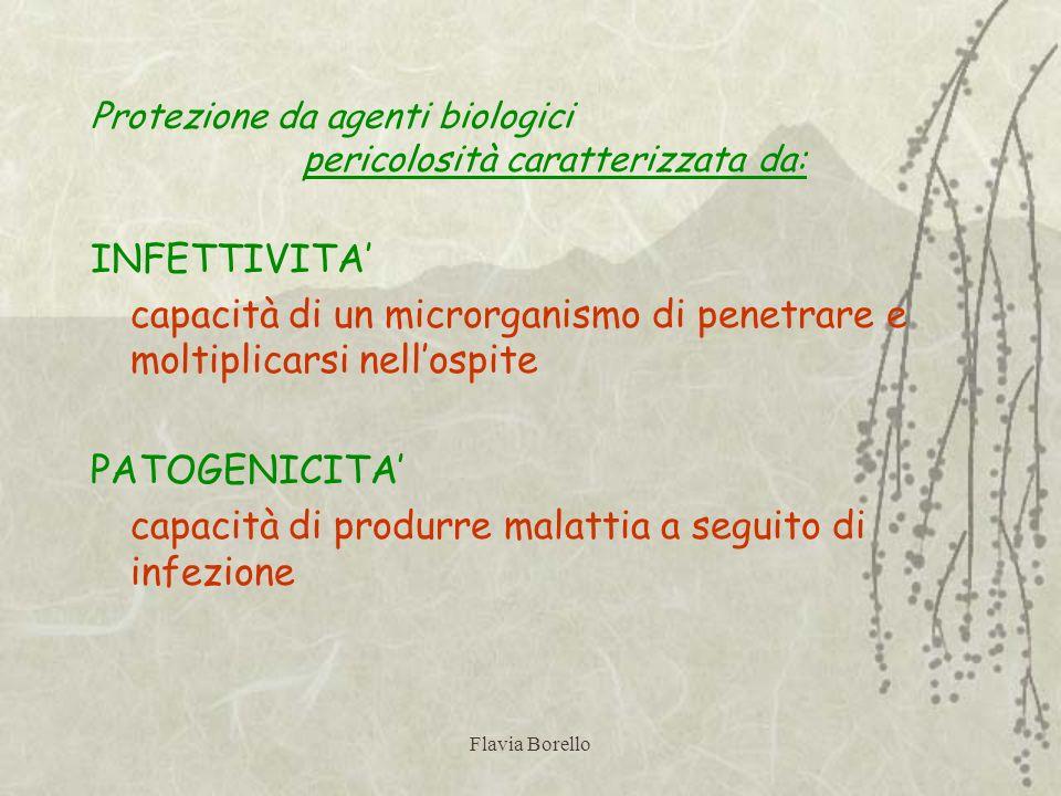 Protezione da agenti biologici pericolosità caratterizzata da: