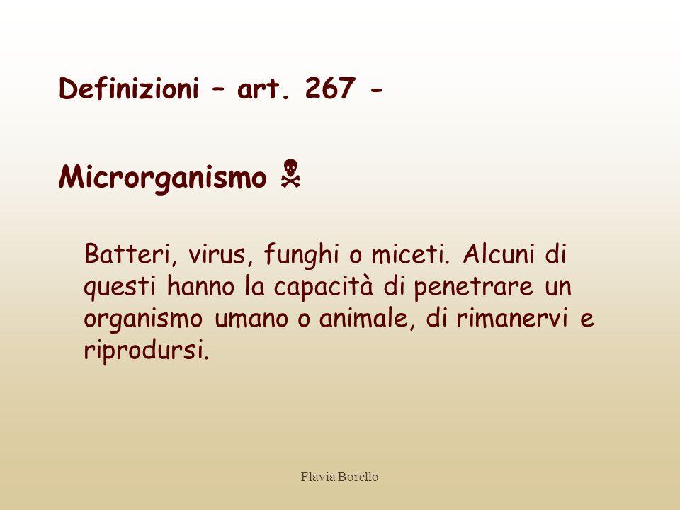 Microrganismo  Definizioni – art. 267 -