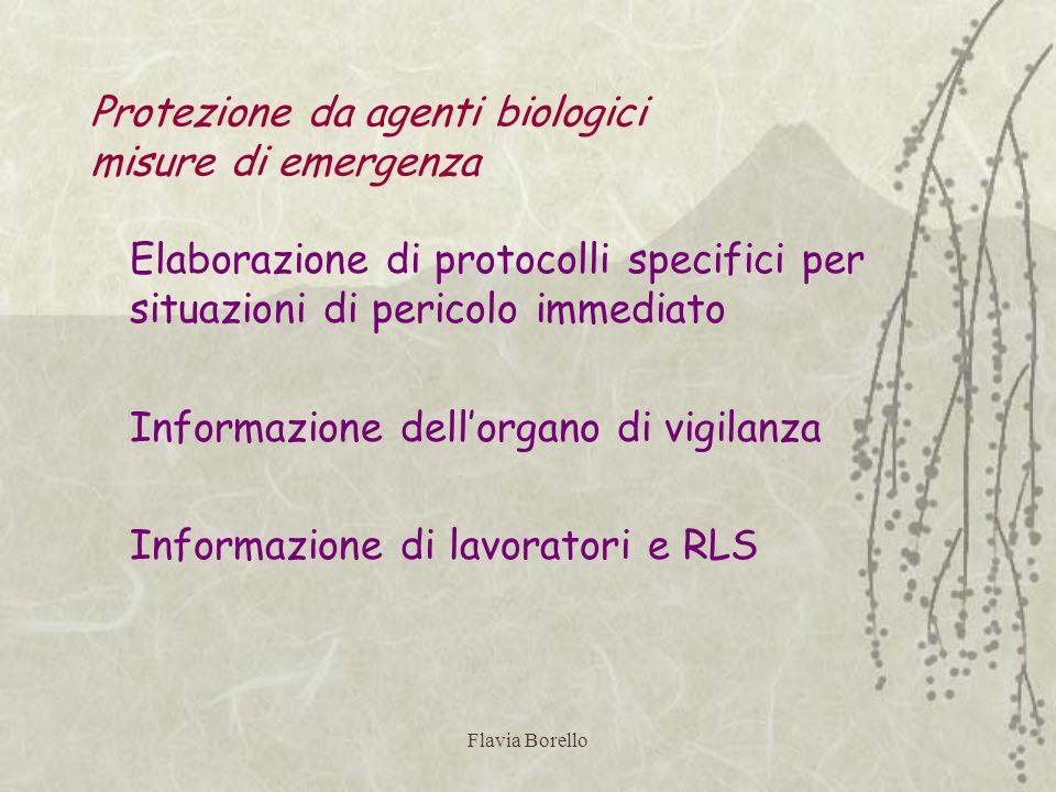 Protezione da agenti biologici misure di emergenza