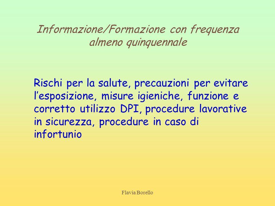 Informazione/Formazione con frequenza almeno quinquennale