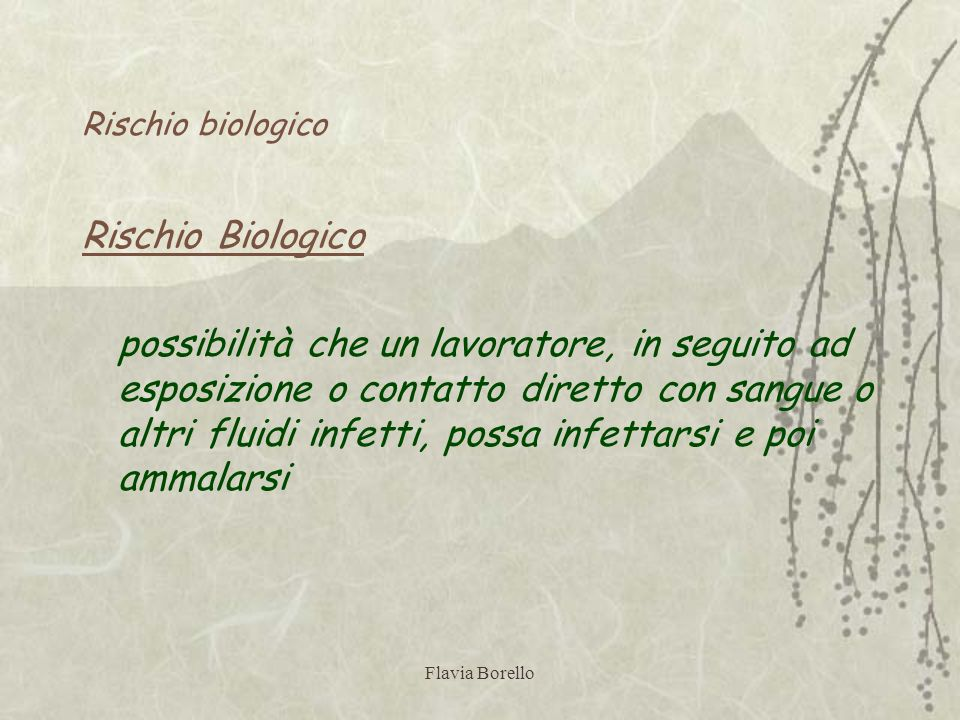 Rischio biologico Rischio Biologico.