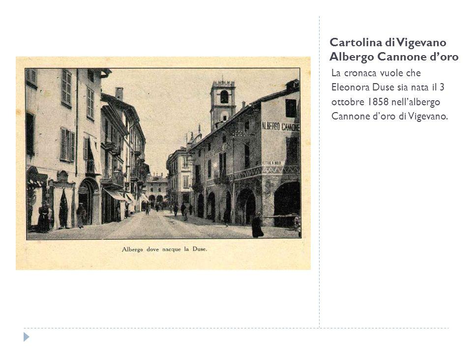 Cartolina di Vigevano Albergo Cannone d'oro