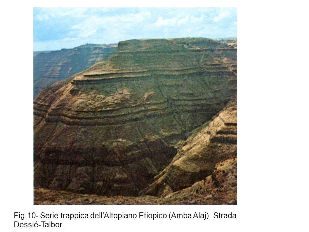 Fig. 10- Serie trappica dell Altopiano Etiopico (Amba Alaj)