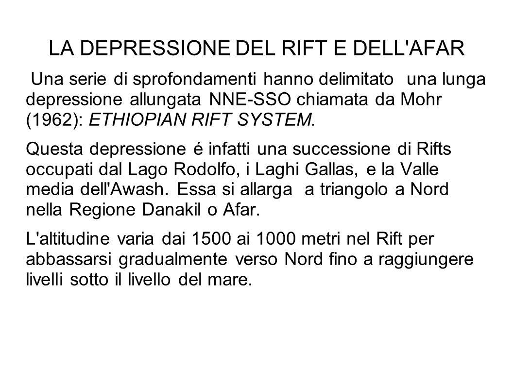 LA DEPRESSIONE DEL RIFT E DELL AFAR