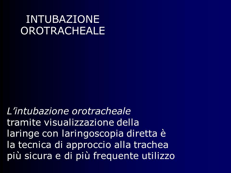 INTUBAZIONE OROTRACHEALE L'intubazione orotracheale