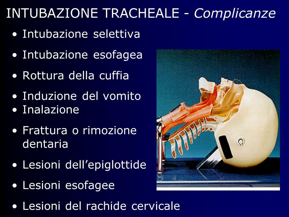INTUBAZIONE TRACHEALE - Complicanze