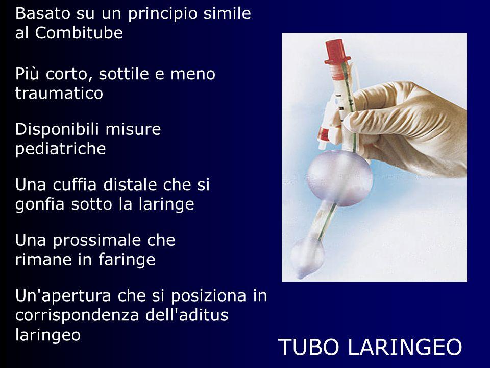 TUBO LARINGEO Basato su un principio simile al Combitube