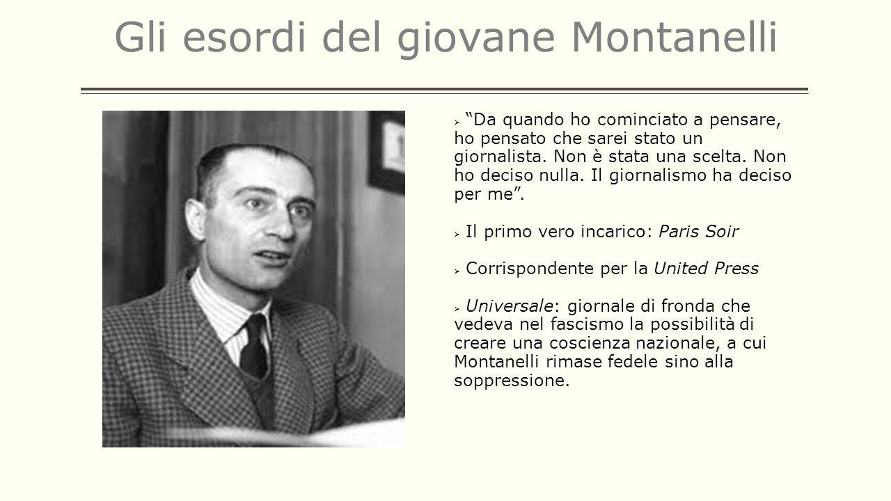 Gli esordi del giovane Montanelli