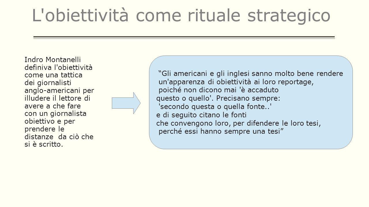 L obiettività come rituale strategico
