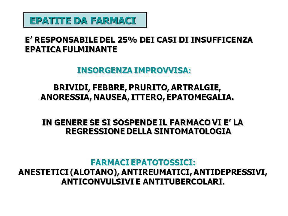 FARMACI EPATOTOSSICI: