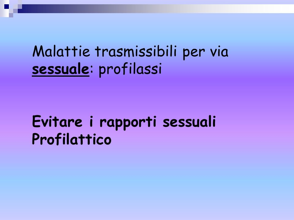Malattie trasmissibili per via sessuale: profilassi
