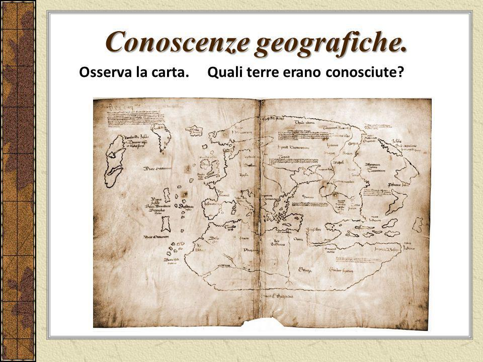 Conoscenze geografiche.