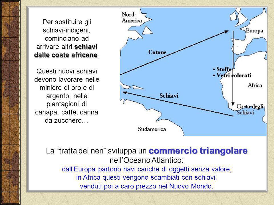 La tratta dei neri sviluppa un commercio triangolare