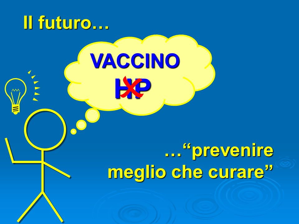 Il futuro… VACCINO HP O … prevenire meglio che curare