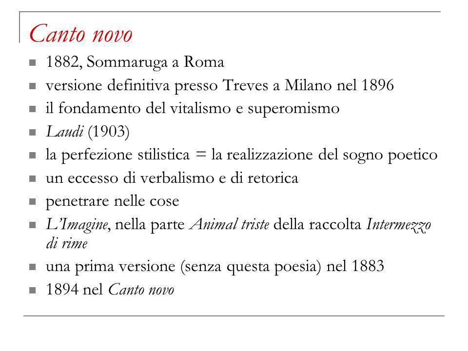 Canto novo 1882, Sommaruga a Roma