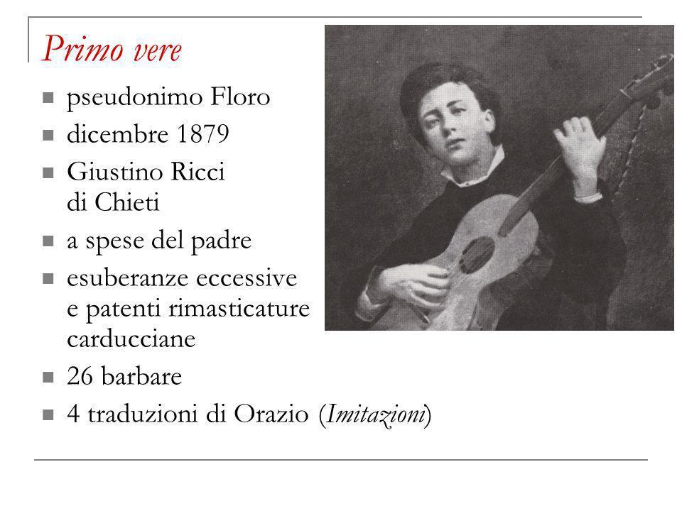 Primo vere pseudonimo Floro dicembre 1879 Giustino Ricci di Chieti