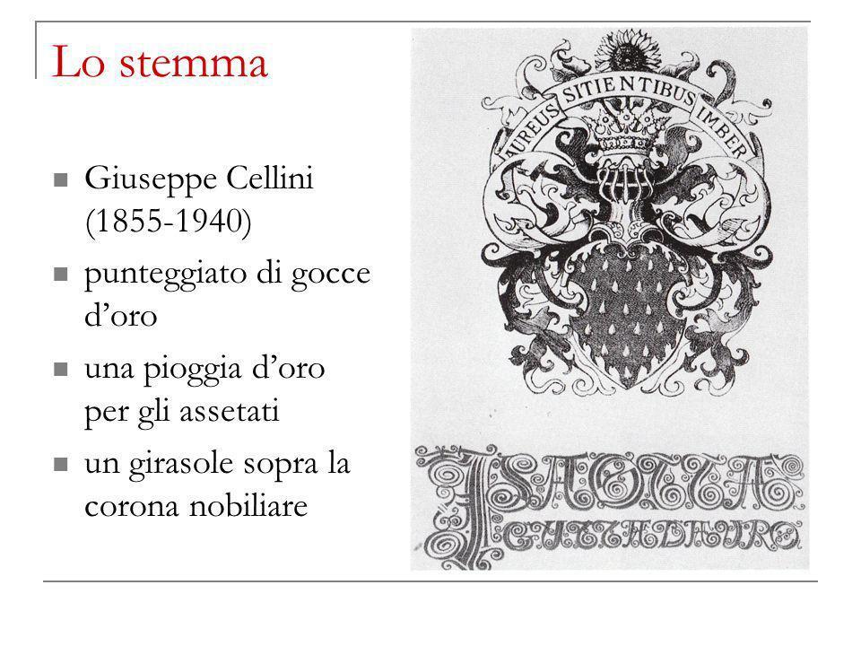 Lo stemma Giuseppe Cellini (1855-1940) punteggiato di gocce d'oro