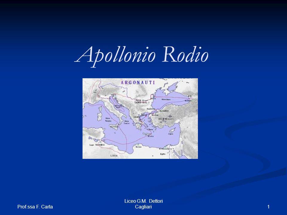 Apollonio Rodio Prof.ssa F. Carta Liceo G.M. Dettori Cagliari