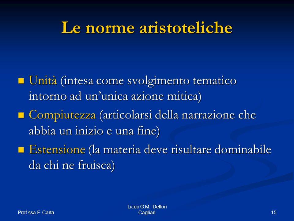Le norme aristoteliche
