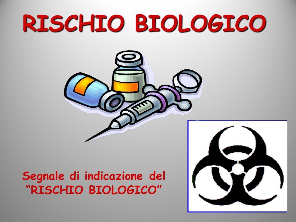 Segnale di indicazione del RISCHIO BIOLOGICO
