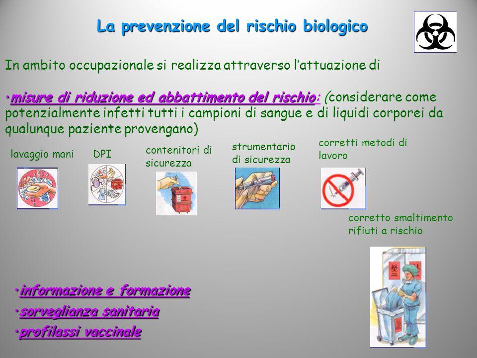 La prevenzione del rischio biologico