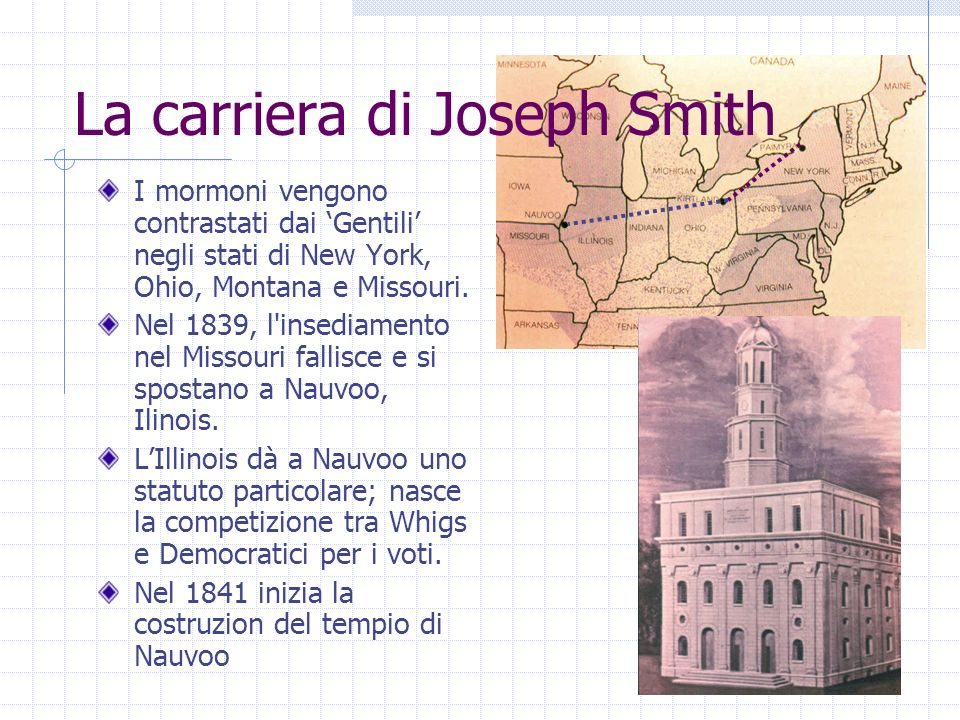 La carriera di Joseph Smith