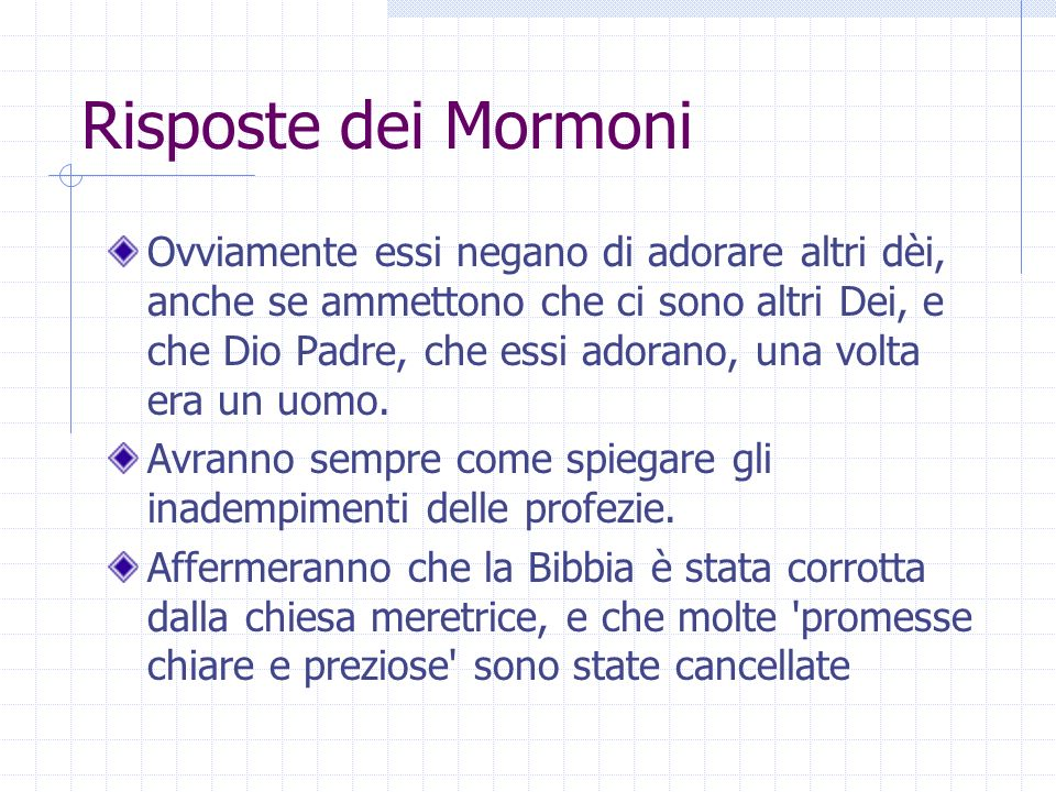 Risposte dei Mormoni
