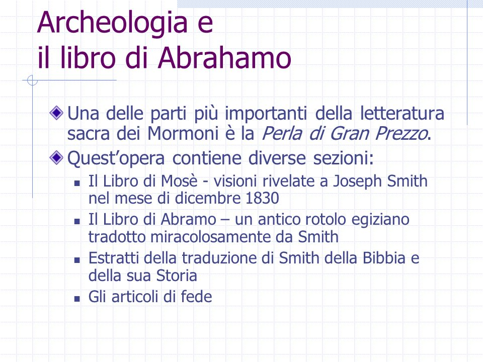 Archeologia e il libro di Abrahamo