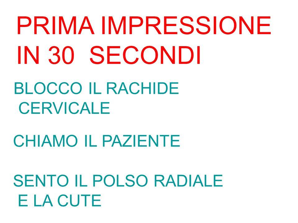 PRIMA IMPRESSIONE IN 30 SECONDI BLOCCO IL RACHIDE CERVICALE