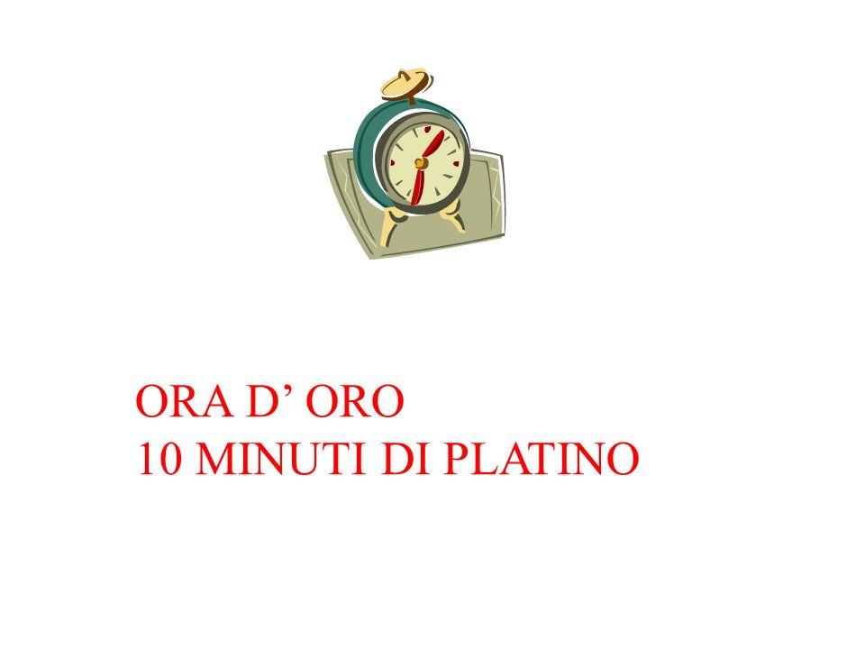 ORA D' ORO 10 MINUTI DI PLATINO