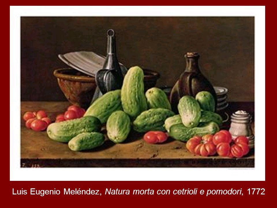 Luis Eugenio Meléndez, Natura morta con cetrioli e pomodori, 1772