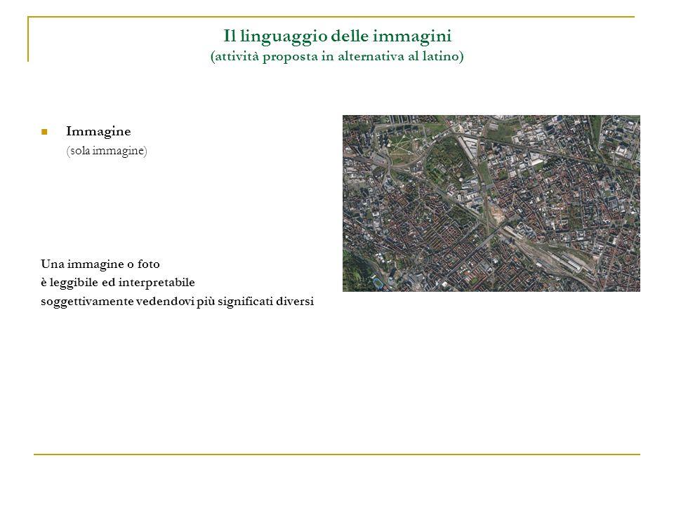 Il linguaggio delle immagini (attività proposta in alternativa al latino)