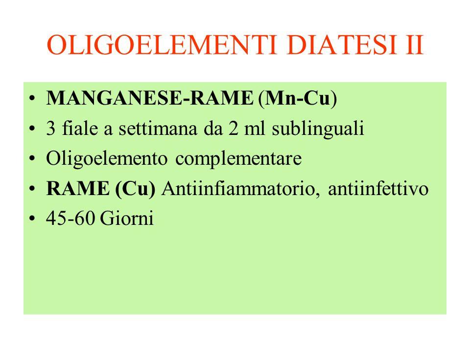 OLIGOELEMENTI DIATESI II