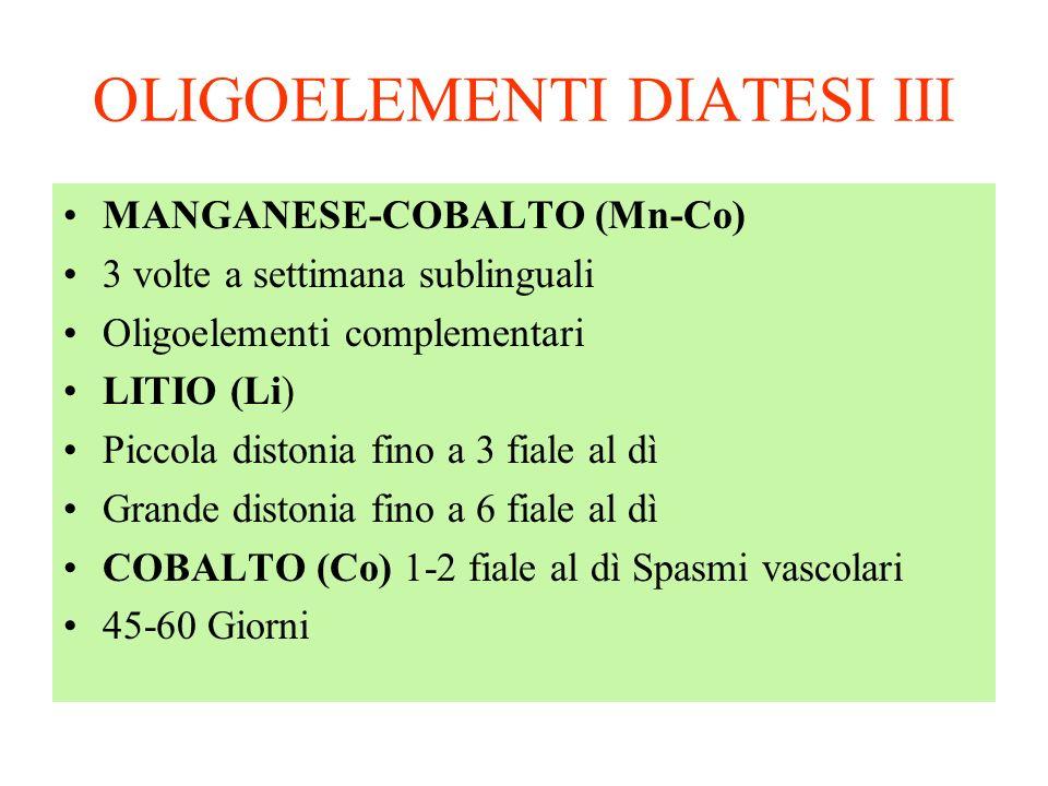 OLIGOELEMENTI DIATESI III