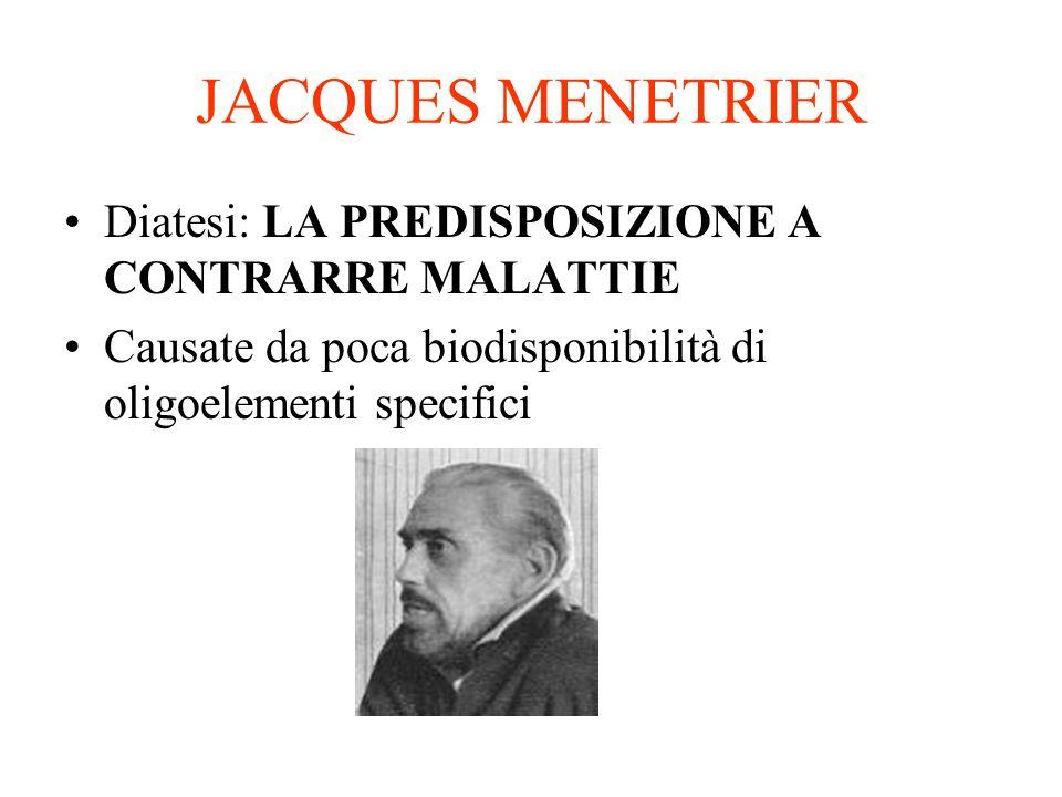 JACQUES MENETRIER Diatesi: LA PREDISPOSIZIONE A CONTRARRE MALATTIE