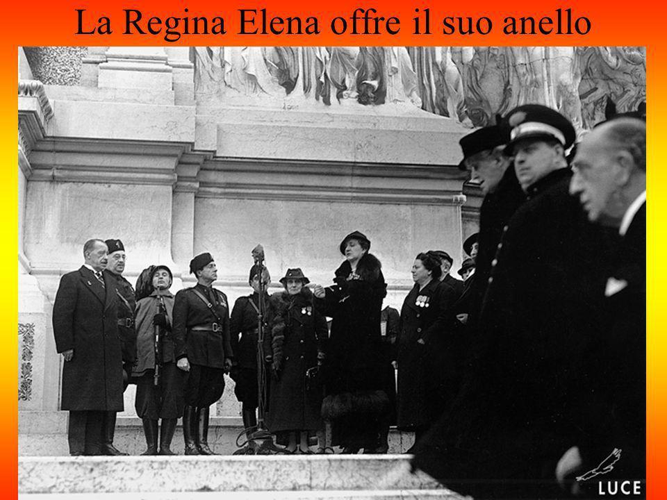 La Regina Elena offre il suo anello
