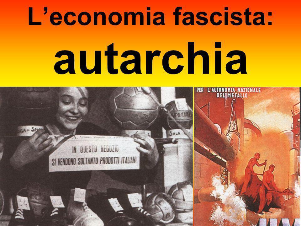 L'economia fascista: autarchia