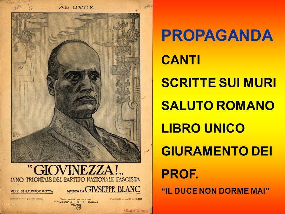 PROPAGANDA CANTI SCRITTE SUI MURI SALUTO ROMANO LIBRO UNICO